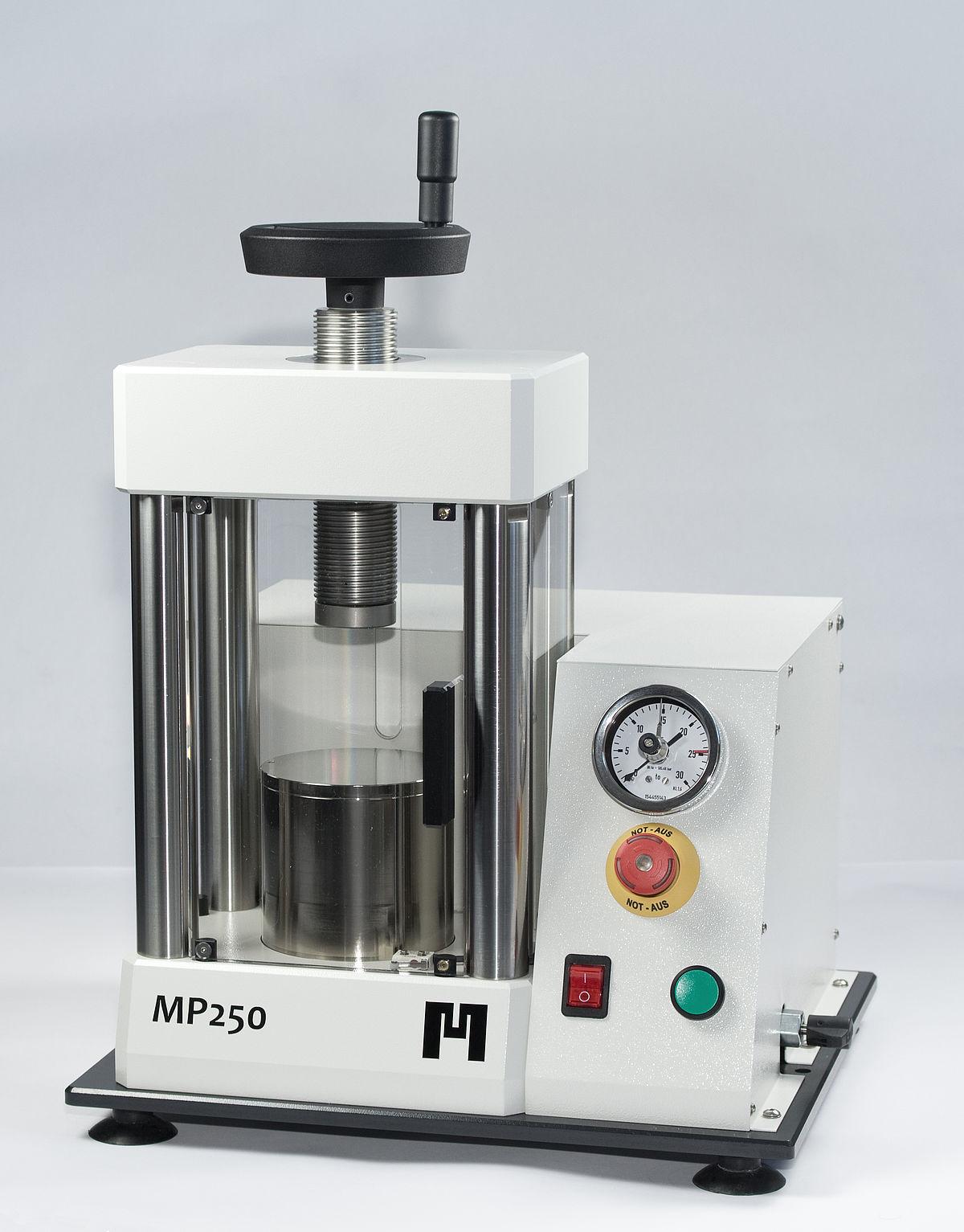 presse hydraulique de laboratoire pour pastiller - pastilleuse