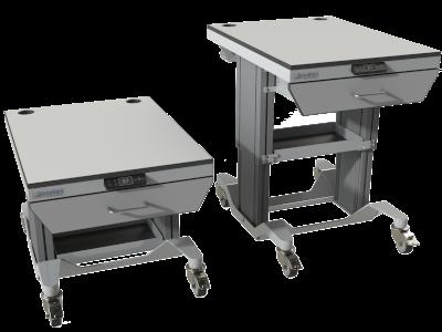 paillasse de laboratoire pour chaine HPLC, UHPLC, LC avec dispositif anti basculement
