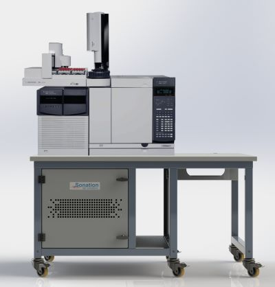 sonation-paillasse-spectrometre agilent GC/MS -150x100