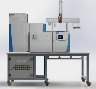 sonation-paillasse-spectrometre thermo fisher GC/MS orbitrap -200x100